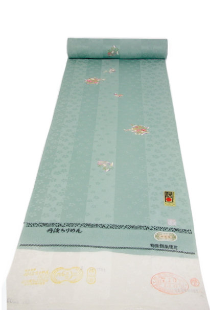 染小紋、水浅葱 籠小花(NO.1303)