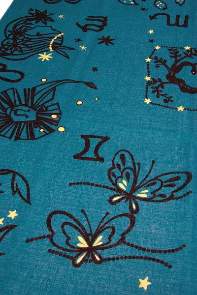 風呂敷綿 三巾 13星座、ピーコックグリーン(NO.1311)