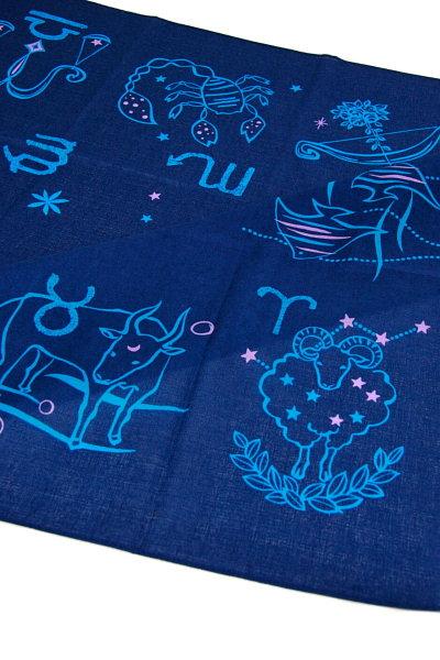 風呂敷綿 三巾 13星座、インディゴブルー(NO.1312)